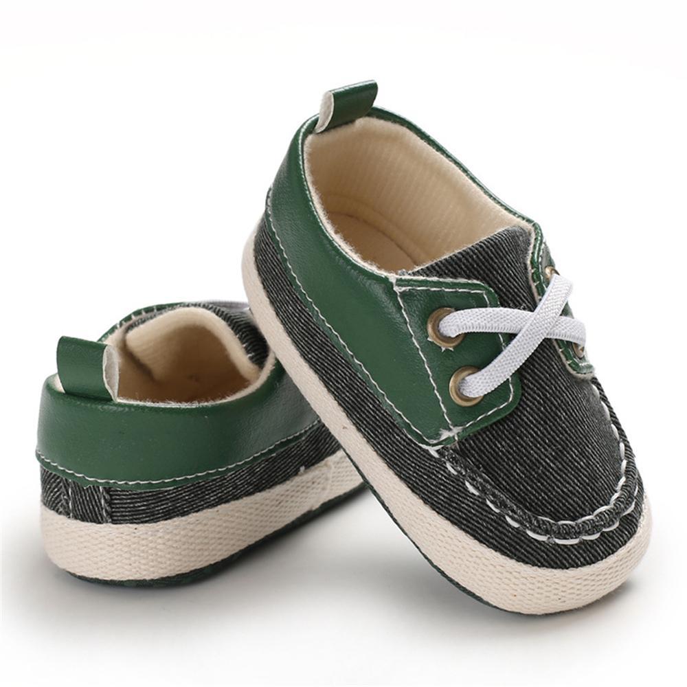 Baby Boys Lace Up Color Block Sneakers Children Shoes Wholesale - PrettyKid