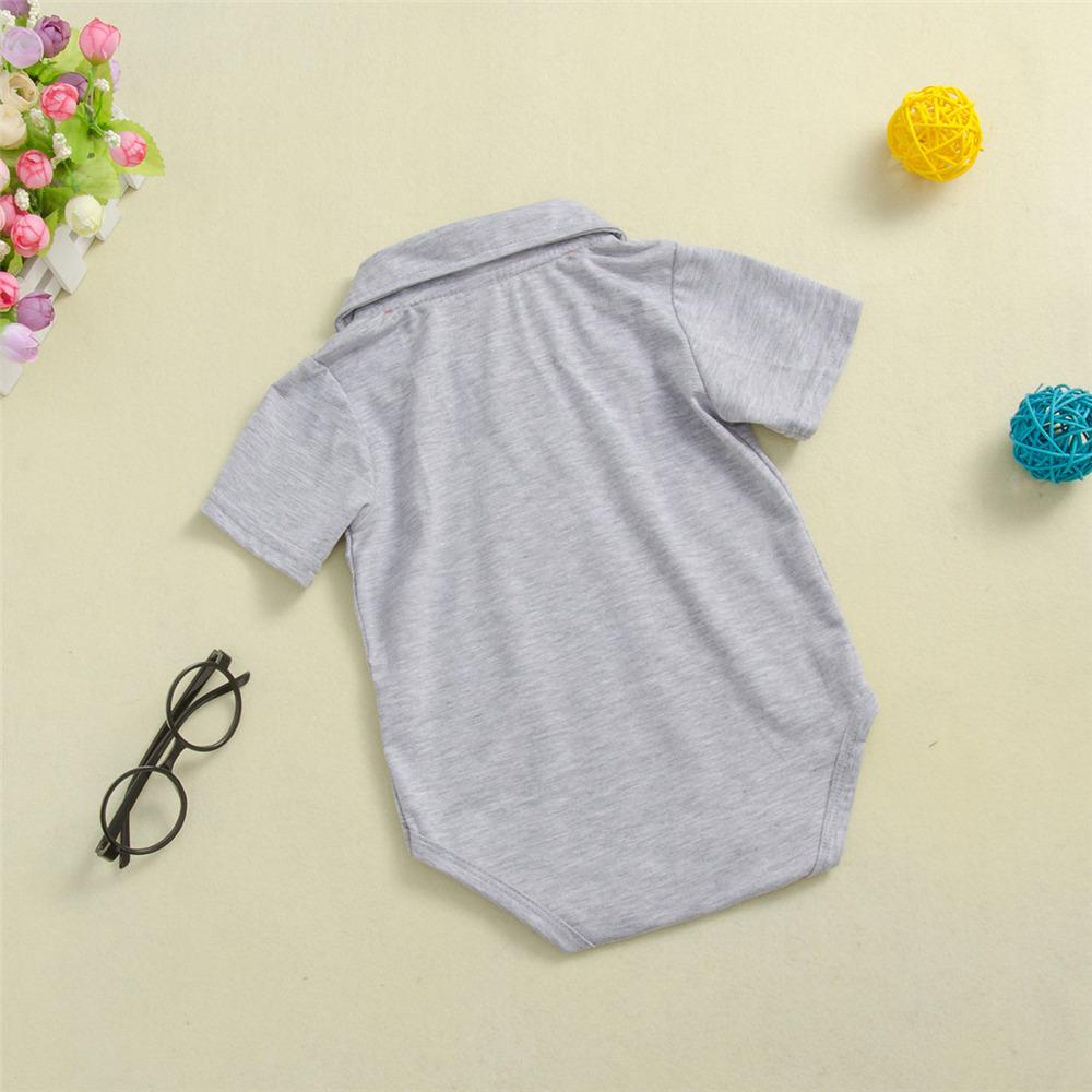 Short Sleeve Solid Color Romper For Baby Boy & Girls Wholesale