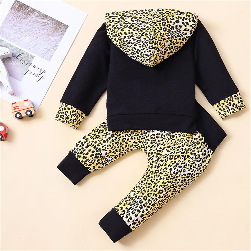 Baby Girls Leopard Printed Hooded Top & Trousers Baby Outfits