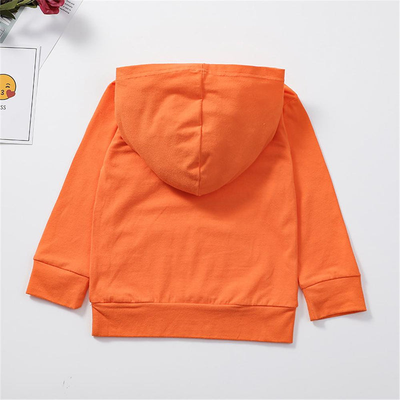 Unisex Letter Long Sleeve Pullover Hooded Top Bulk Childrens Clothes