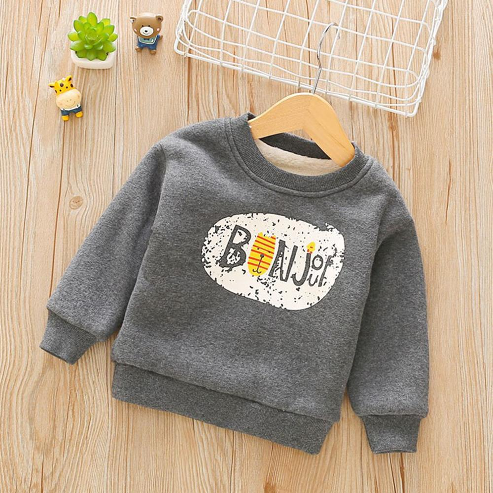 Unisex Letter Long  Sleeve Winter Top Wholesale Boys Clothing
