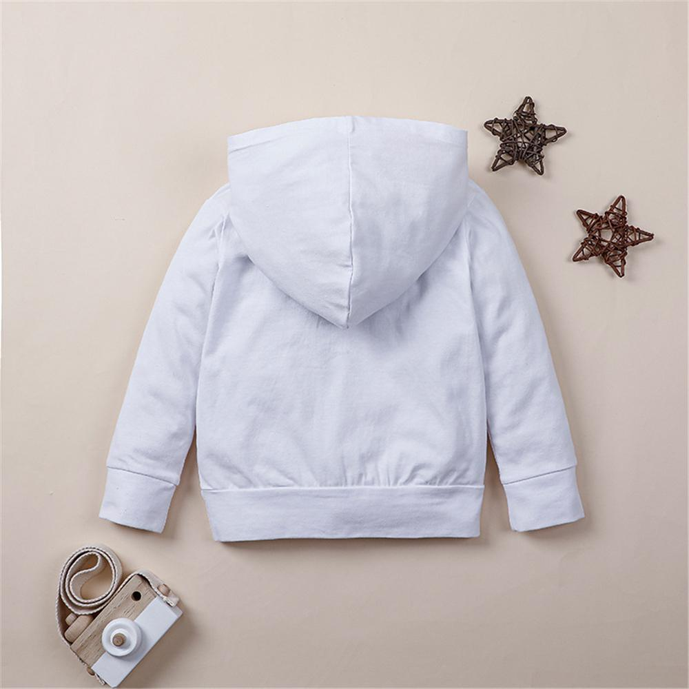 Toddler Boy Letter Print Hooded Long Sleeve Top Boys Clothes Wholesale