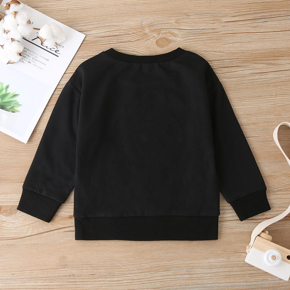 Unisex Letter Printed Long Sleeve Crew Neck T-Shirts Bulk Childrens Clothing Suppliers