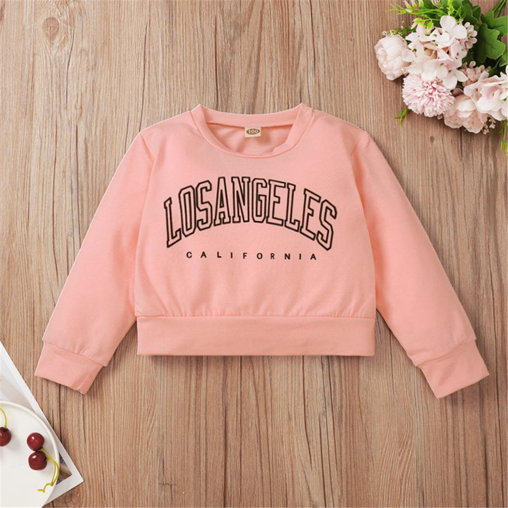 Girls Letter Printed Long Sleeve Top Wholesale Baby Girl Boutique Clothing