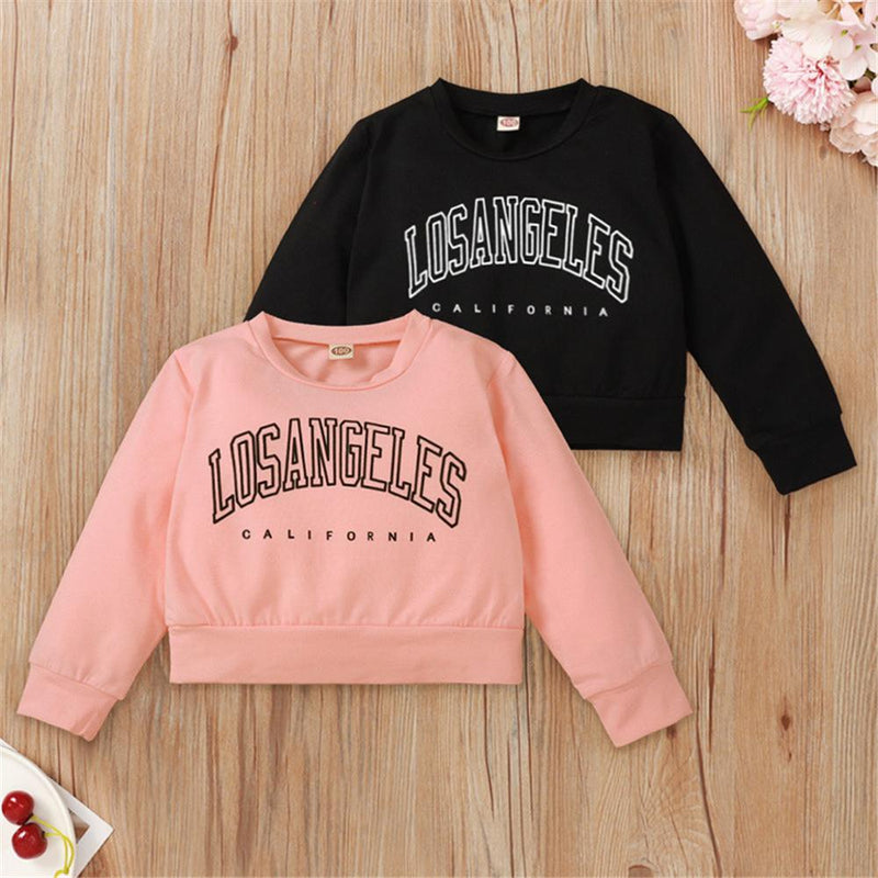 Girls Letter Printed Long Sleeve Top Wholesale Baby Girl Boutique Clothing - PrettyKid