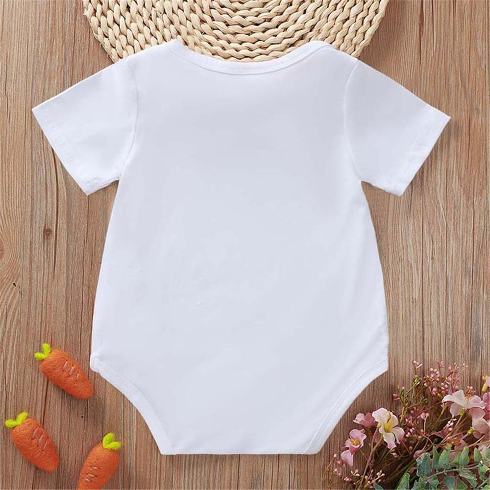Baby Unisex Letter Printed Short Sleeve Romper Wholesale Baby Clothes In Bulk
