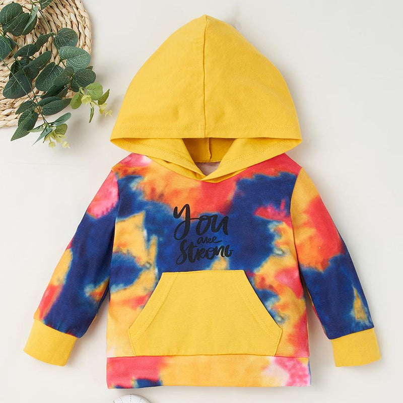 Baby Girls Letter Tie Dye Hooded Top & Trousers Baby Clothes Suppliers