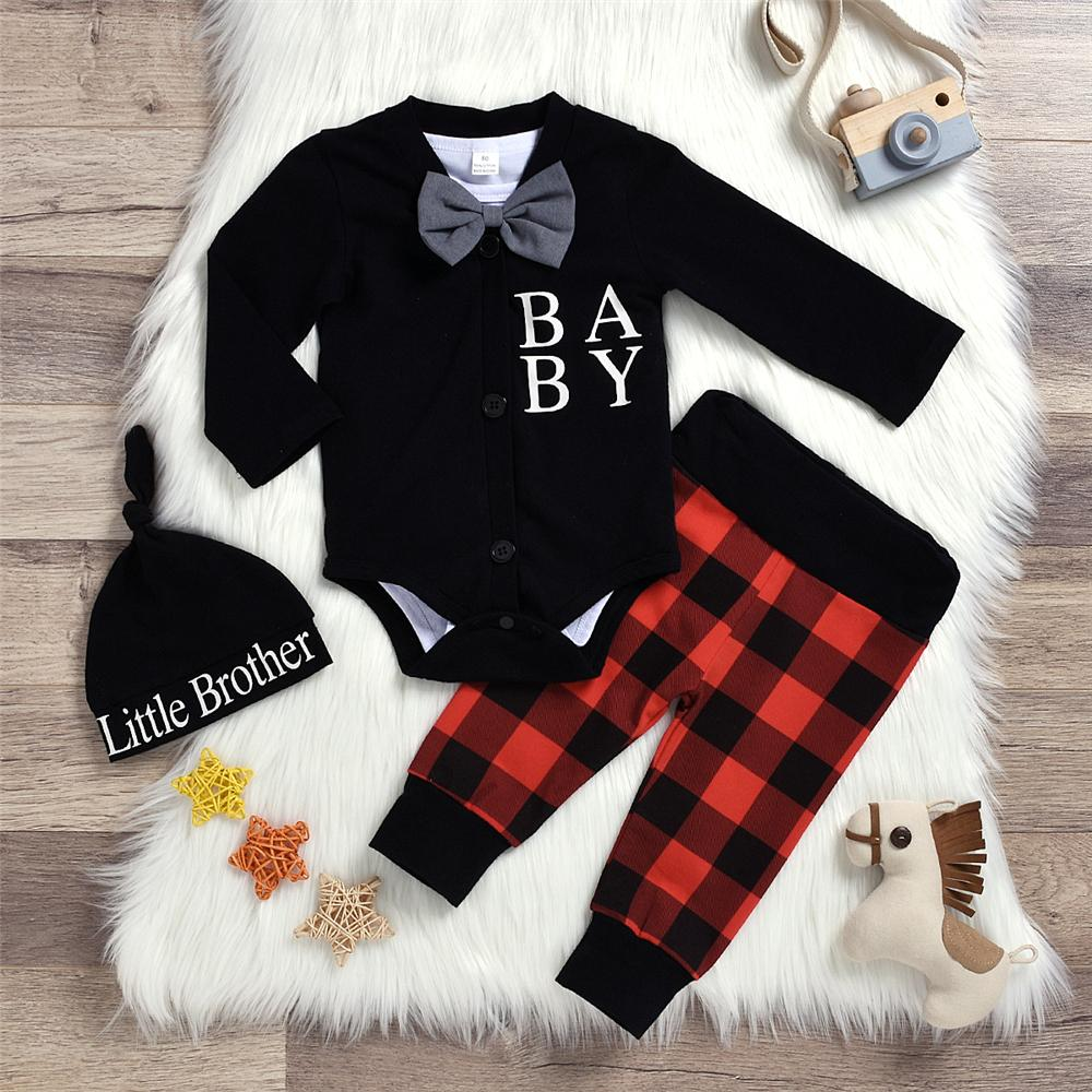 Baby Little Gentleman 4PCS Casual Autumn Sets Baby Clothes Vendors - PrettyKid