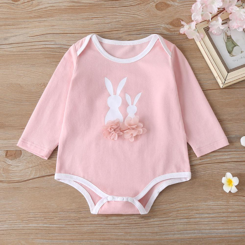 Baby Girls Long Sleeve Cartoon Rabbit Romper & Pants & Hat Buy Baby clothing Wholesale