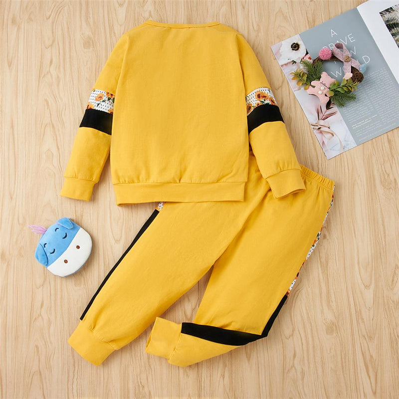 Unisex Long Sleeve Color Contrast Long Sleeve Tracksuit Wholesale Kidswear