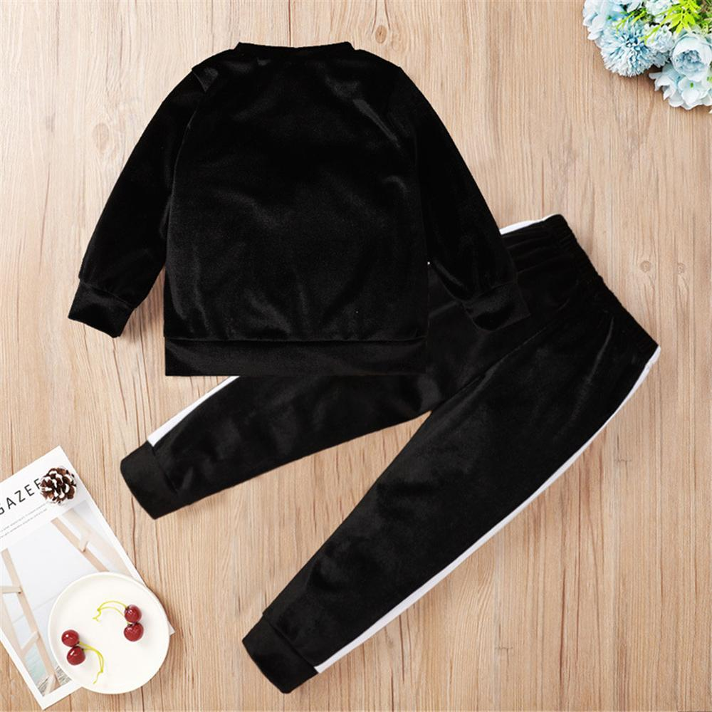 Unisex Long Sleeve Crew Neck Leisure Outfits Wholesale Kids Fashion