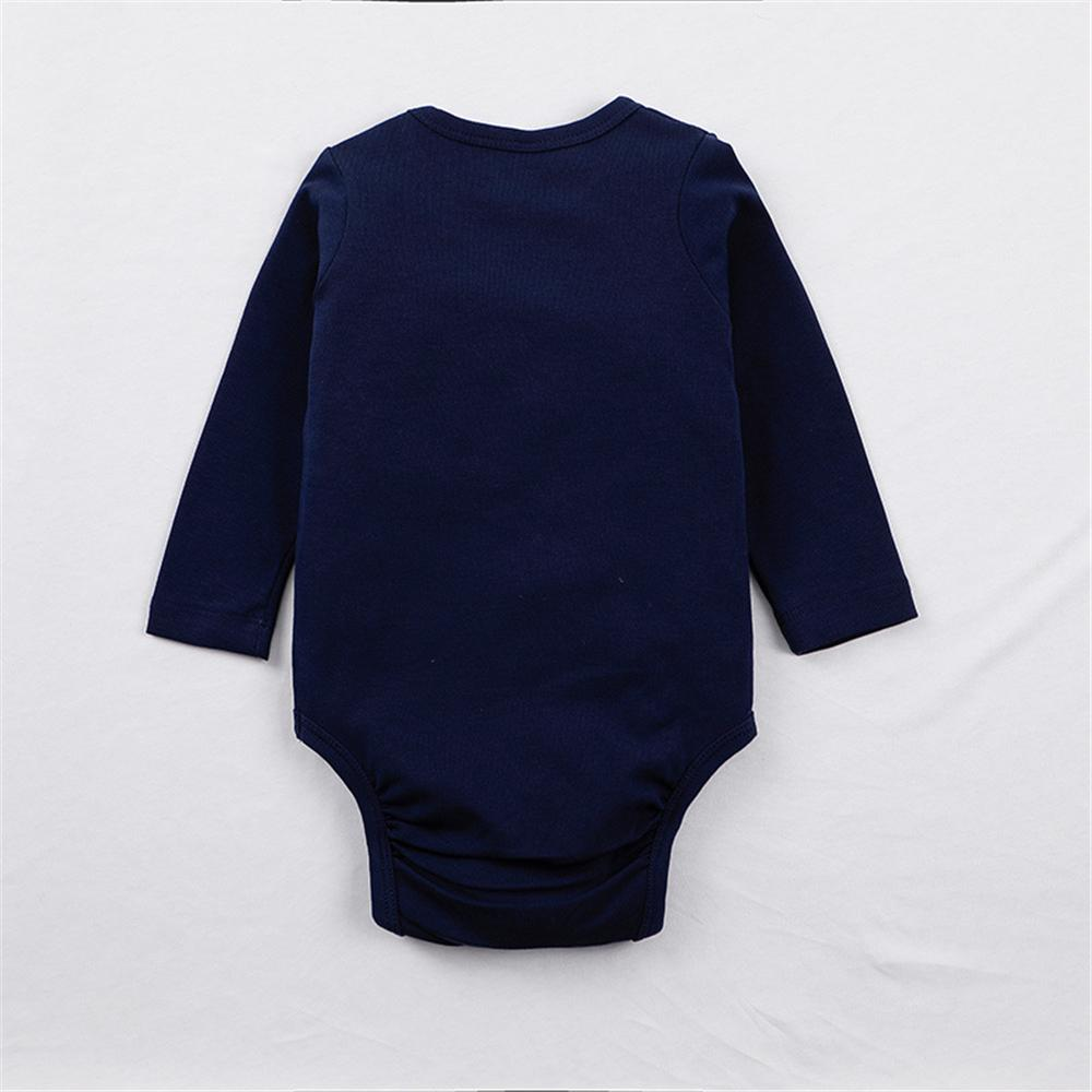 Baby Boys Long Sleeve Crew Neck Romper Baby Clothes Cheap Wholesale - PrettyKid