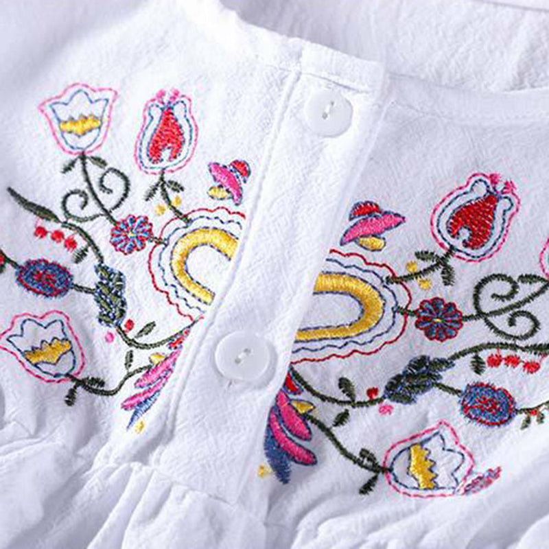Baby Girls Long Sleeve Embroidered Dress Baby Wholesale Clothing