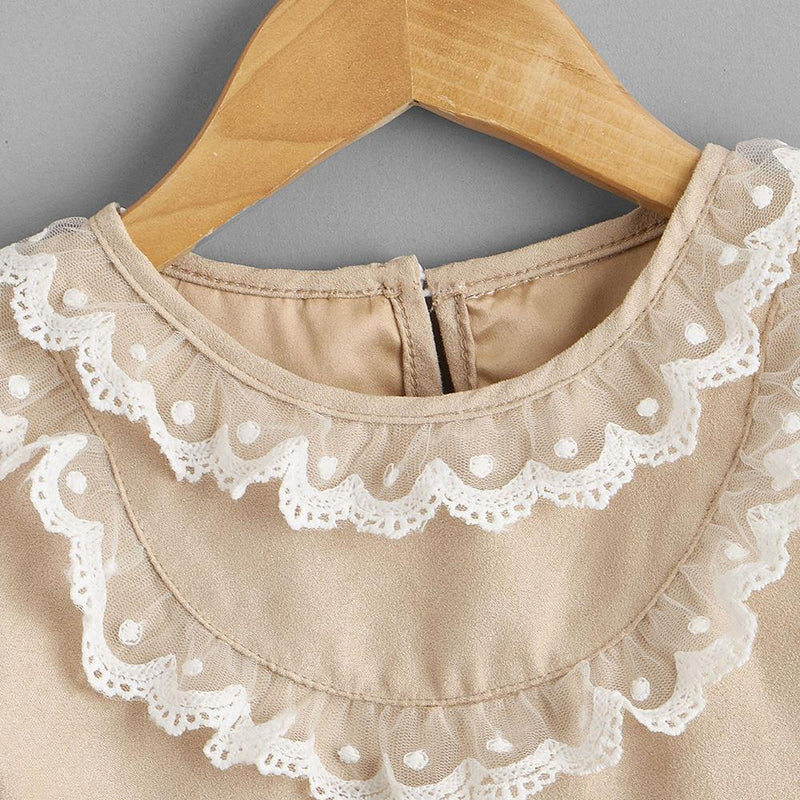 Baby Girls Long Sleeve Lace Collar Casual Dress Cheap Baby Clothes Online Wholesale