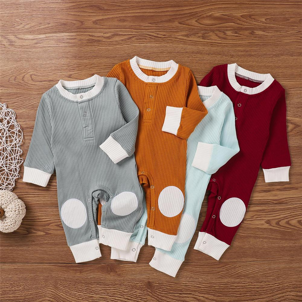 Baby Unisex Long Sleeve Patch Romper Cheap Baby Clothes Wholesalers