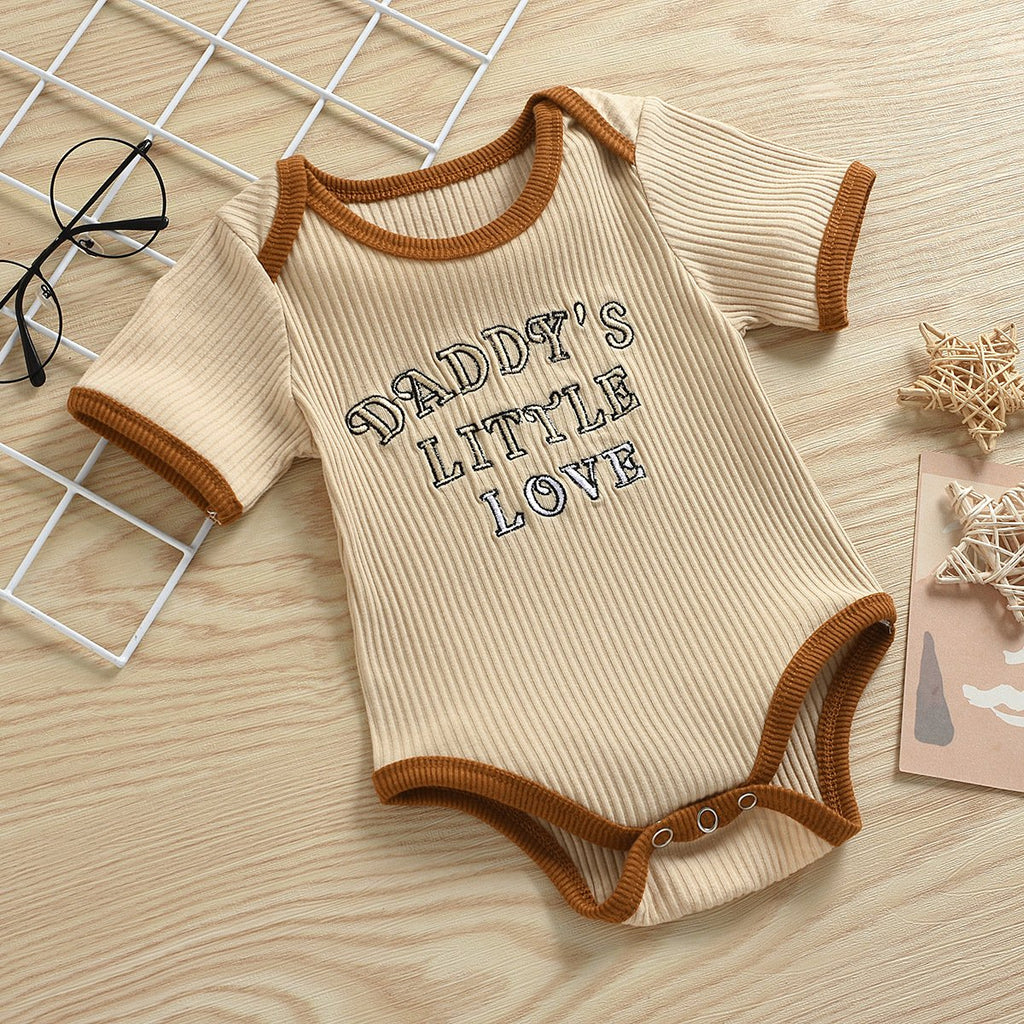 Baby Clothing Wholesale Embroidered Letter Jumpsuit - PrettyKid