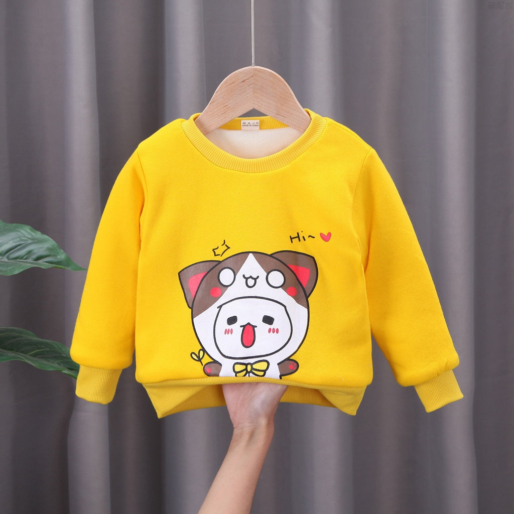 New Winter Clothes Cartoon Print Sweater Boy Children's Clothing Wholesale