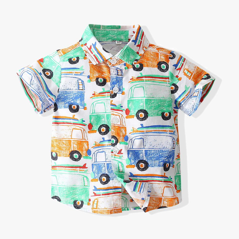 Children's Shirt Cartoon Printing CAR Online - PrettyKid