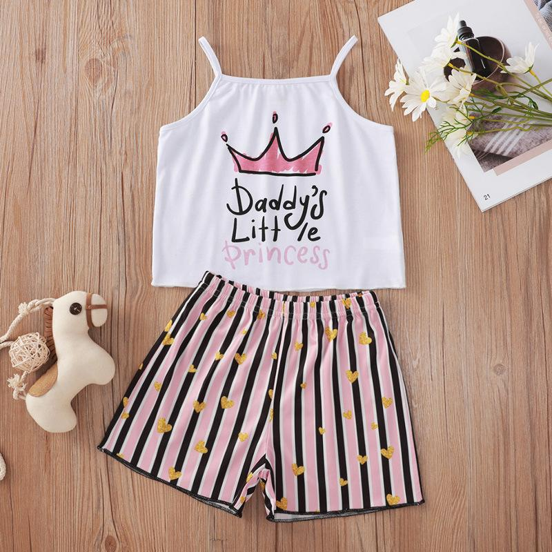Wholesale Baby Clothes Suppliers White Letter Stripes Printing Suit