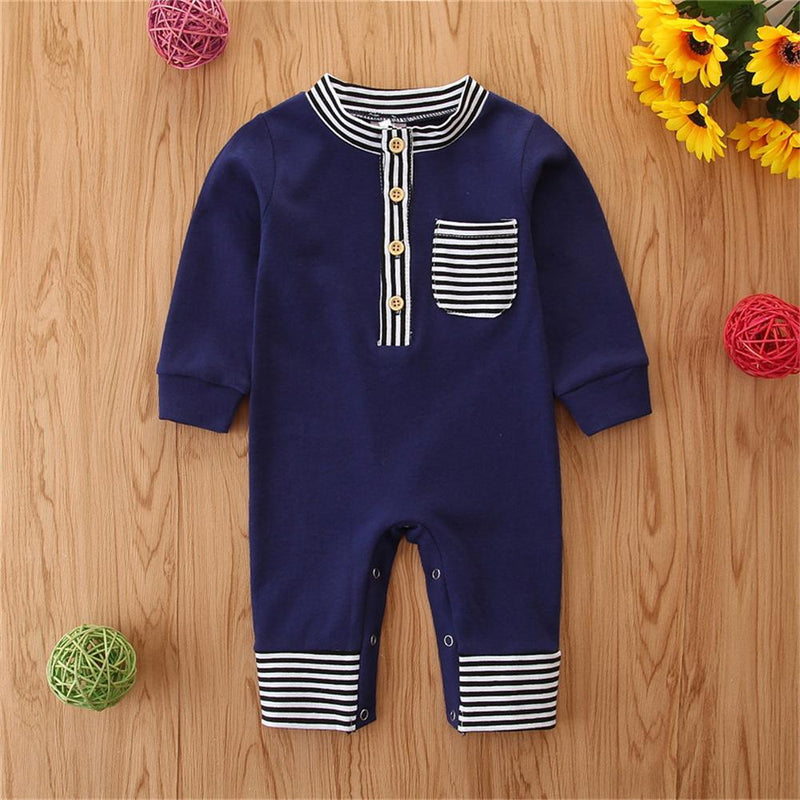 Baby One Piece Striped Casual Romper Wholesale Baby Cloths