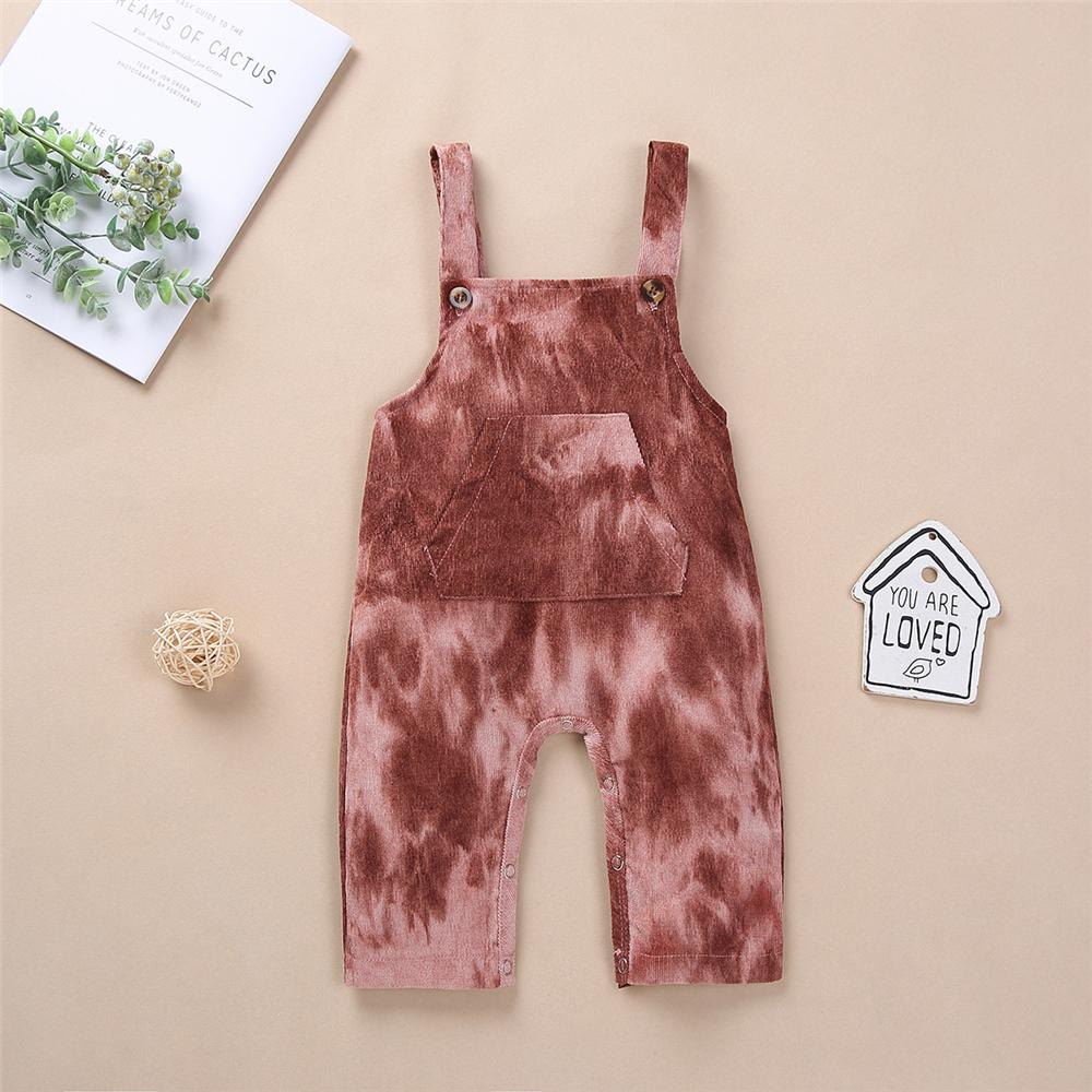 Baby Unisex Onesie Tie Dye Button Overalls Baby Clothes Cheap Wholesale
