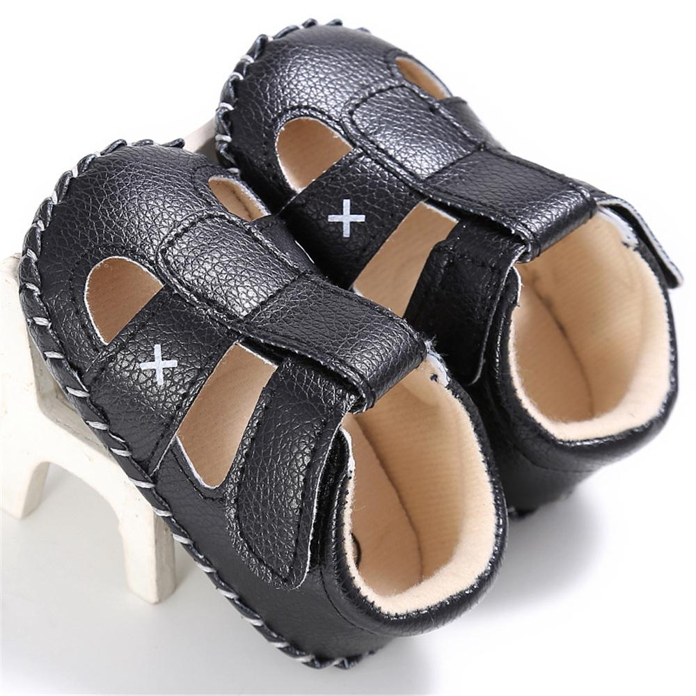 Baby PU Hollow-out Magic Tape Non-Slip Sandals Wholesale Baby Shoes - PrettyKid