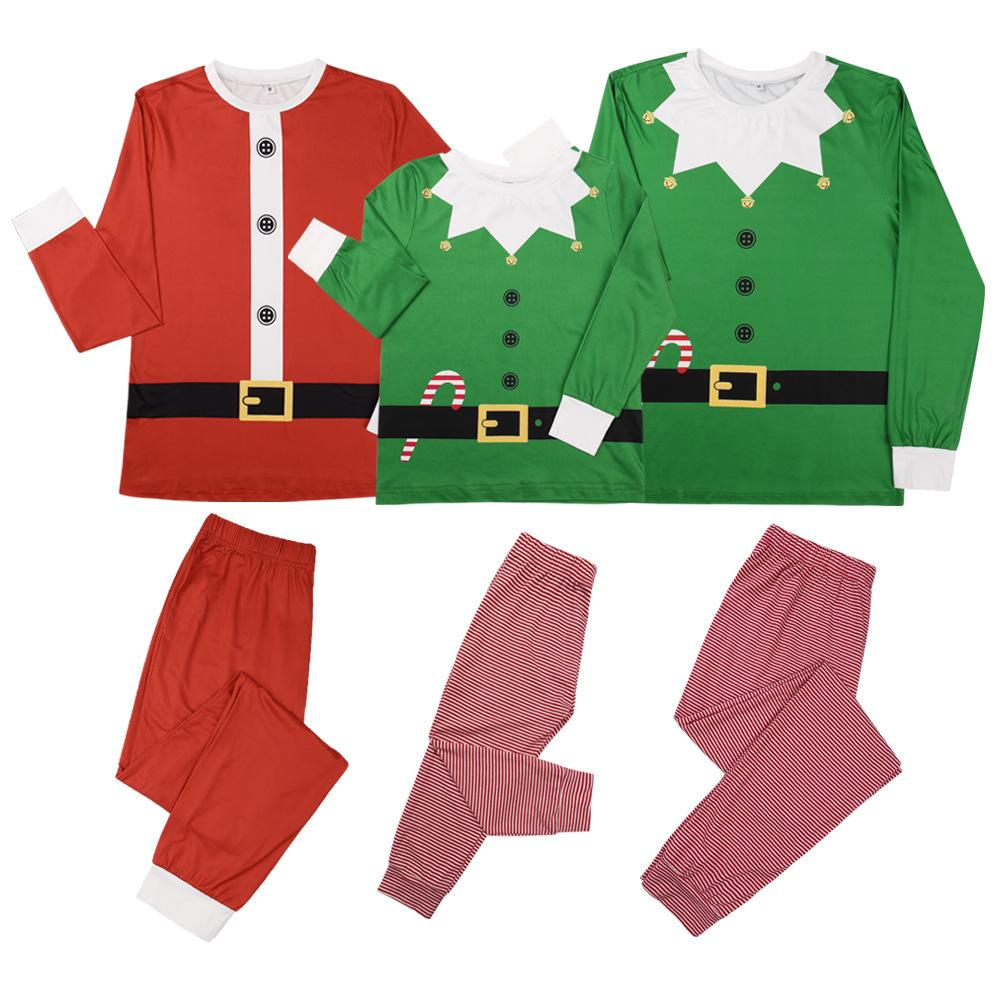 Parent-Child Christmas Crew Neck Top & Pants Wholesale Mommy And Me Clothing