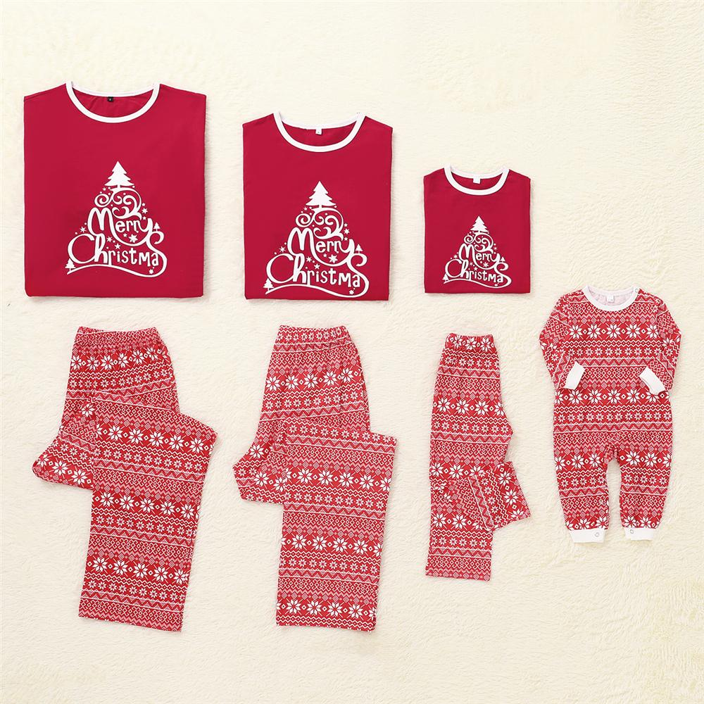 Parent-Child Christmas Tree Long Sleeve Top & Pants Mommy And Me Outfits Wholesale
