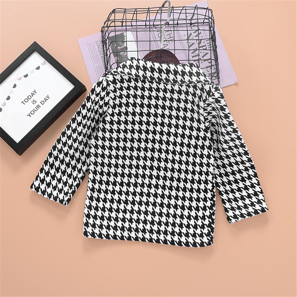 Unisex Plaid Long Sleeve Button Coat Wholesale Childrens Clothing