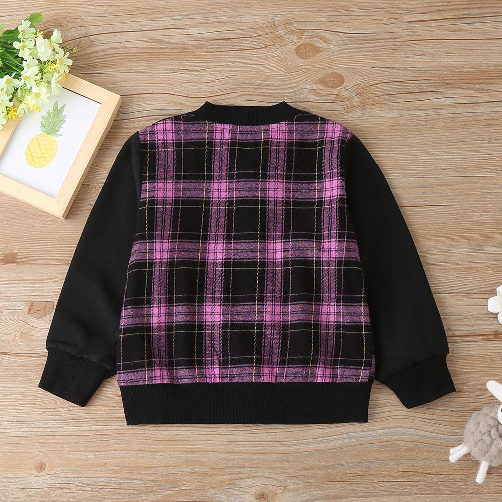 Unisex Plaid Long Sleeve Zipper Jacket Wholesale Bulk Childrens Clothes