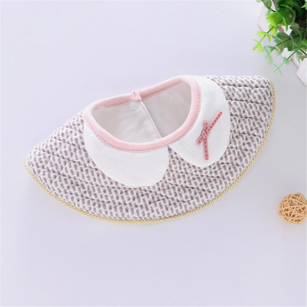 Baby 5PCS Plaid Waterproof Tassel False Collar Bibs Baby Accessories Wholesale