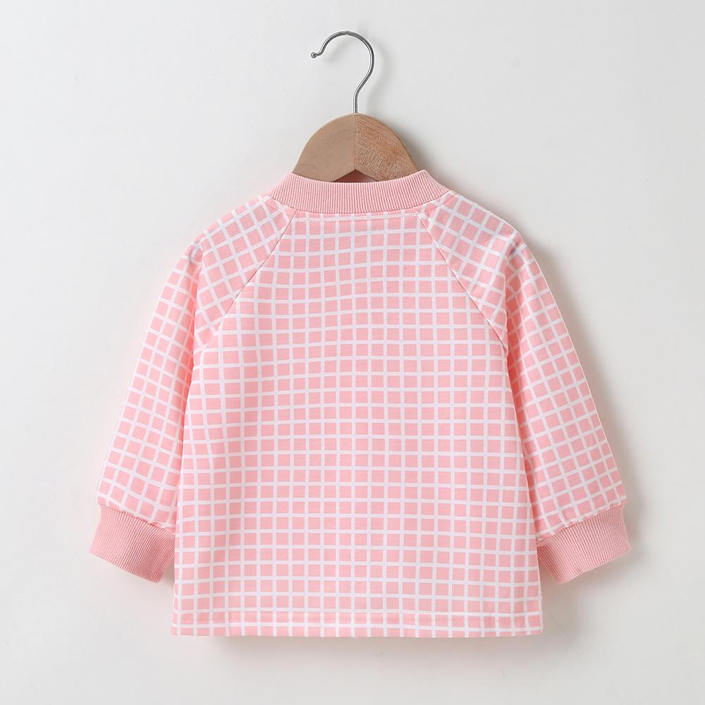 Baby Girls Pocket Plaid Zipper Long Sleeve Jackets Baby clothing Wholesale vendors - PrettyKid