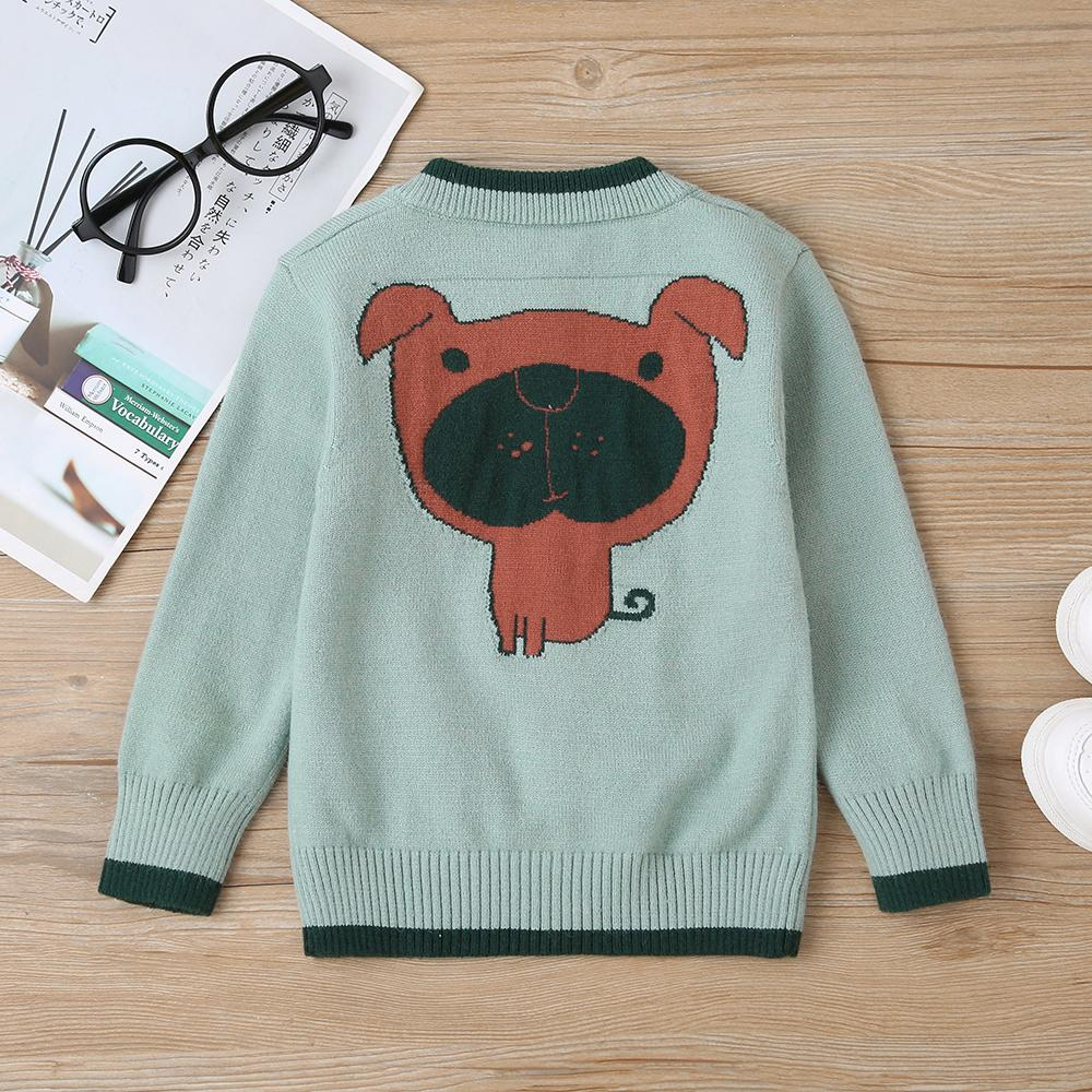 Baby Unisex Puppy Long Sleeve Cardigan Sweater Baby Clothes Suppliers - PrettyKid