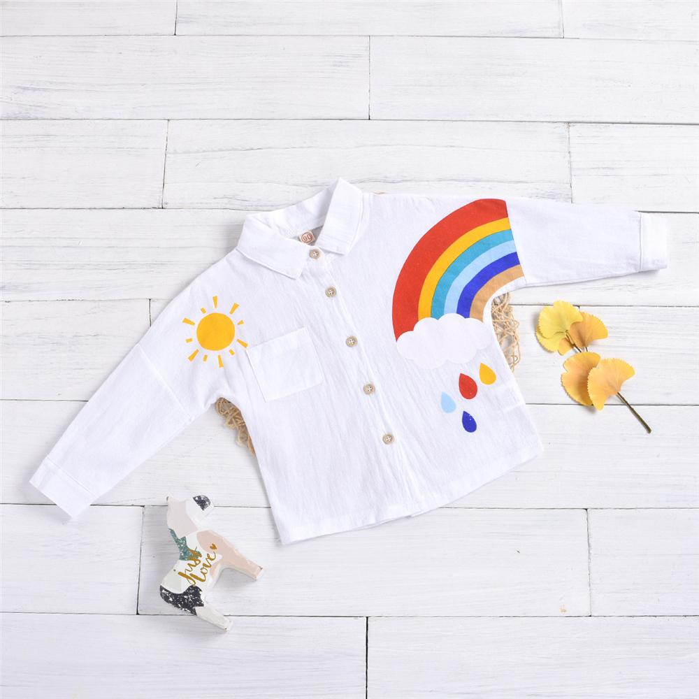 Unisex Rainbow Pocket Long Sleeve Shirt Kids Apparel Wholesalers