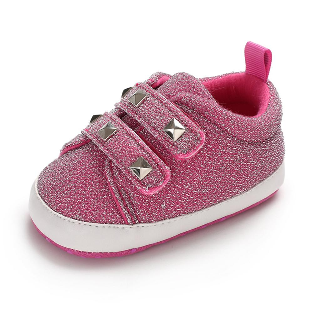 Baby Girls Rivet Magic Tape Casual Sneakers Girls Shoes Wholesale - PrettyKid