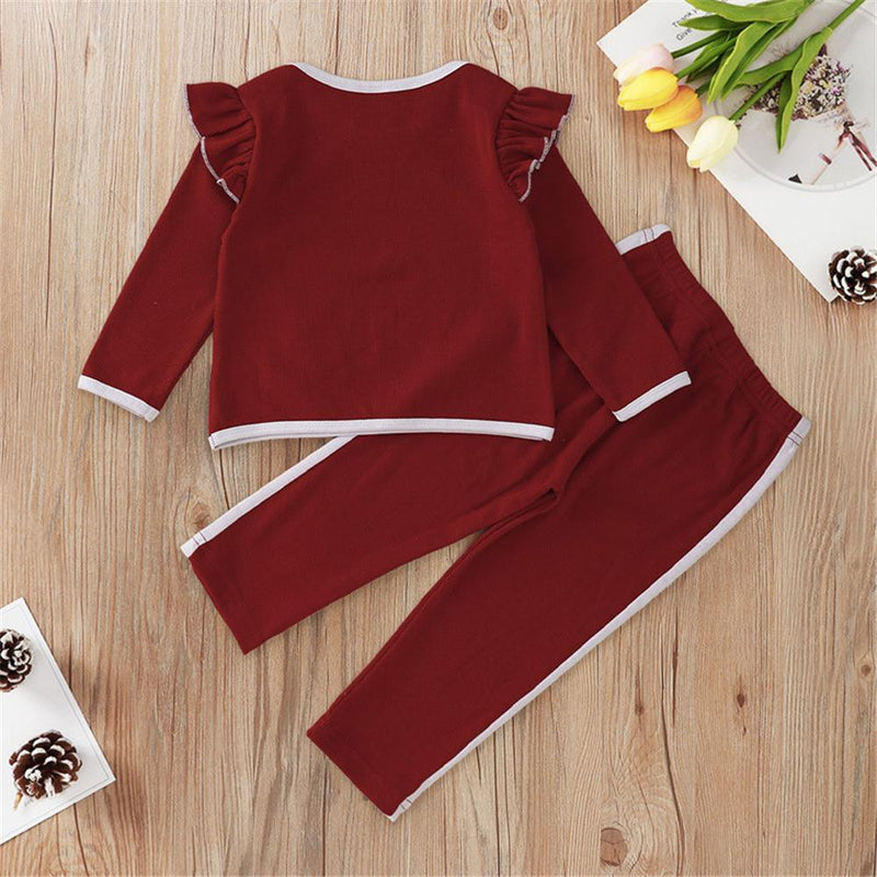 Baby Girls Ruffle Long Sleeve Top & Pants Buy Baby Clothes Wholesale