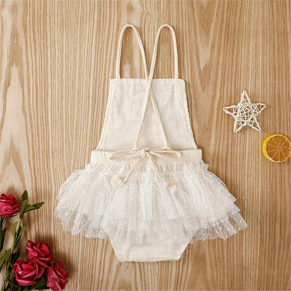 Baby Girls Sleeveless Lace Sling Romper Buying Baby Clothes In Bulk