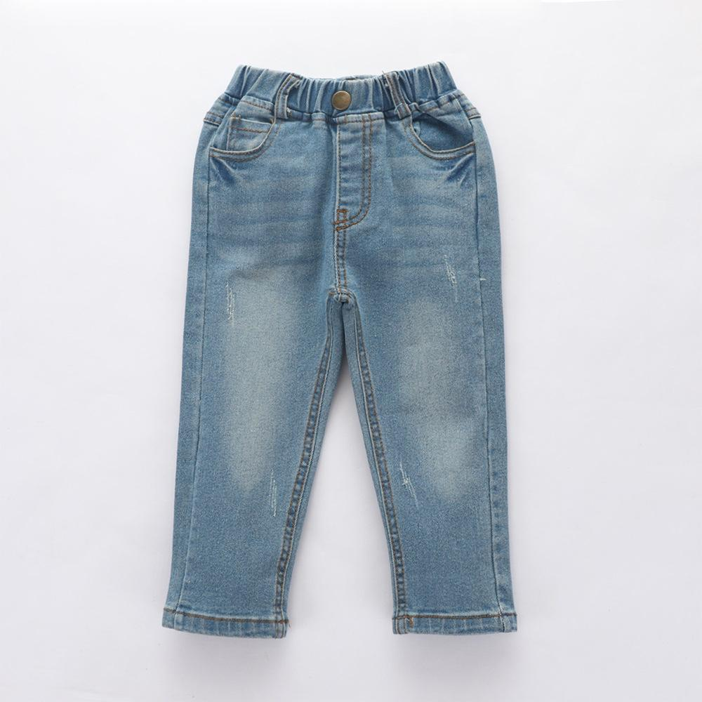 Boys Solid Autumn Pocket Jeans Wholesale - PrettyKid
