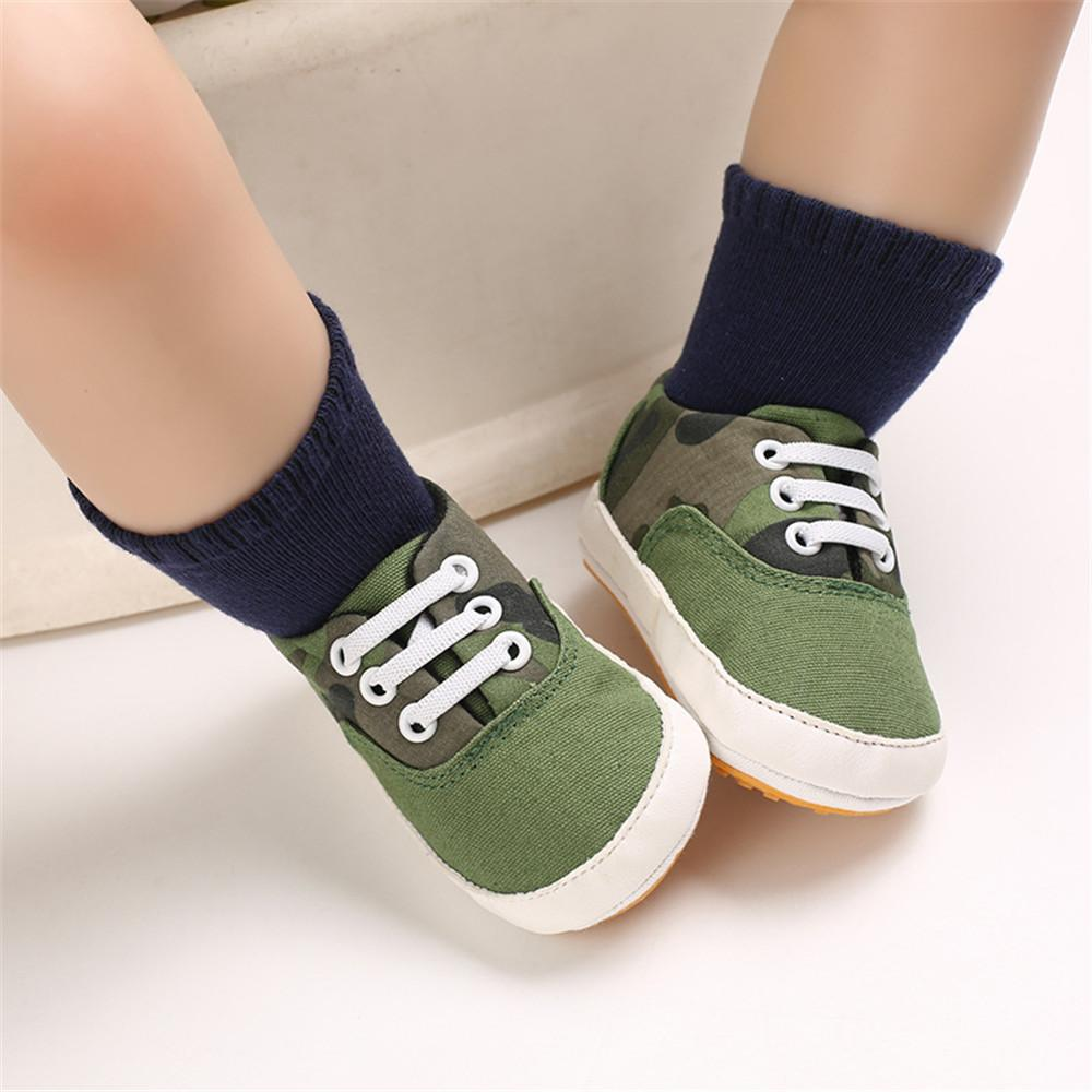 Baby Boys Solid Canvas Lace Up Sneakers Wholesale Toddler Shoes - PrettyKid