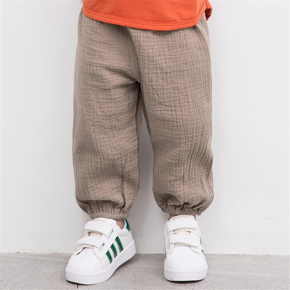 Unisex Solid Color Casual Harem Pants Bulk Childrens Clothing Suppliers