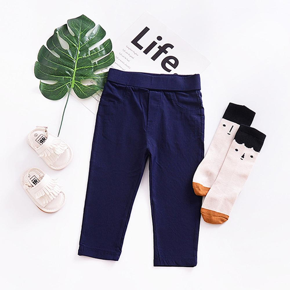 Girls Solid Color Easy Matching Pants Bulk Childrens Clothes