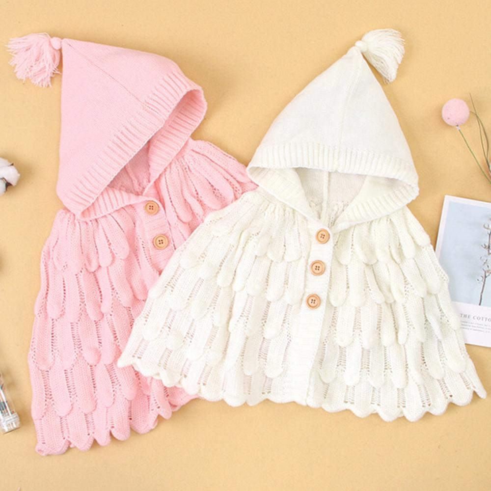 Girls Solid Knitted Cloak Cardigan Sweater Wholesale Girls Accessories - PrettyKid