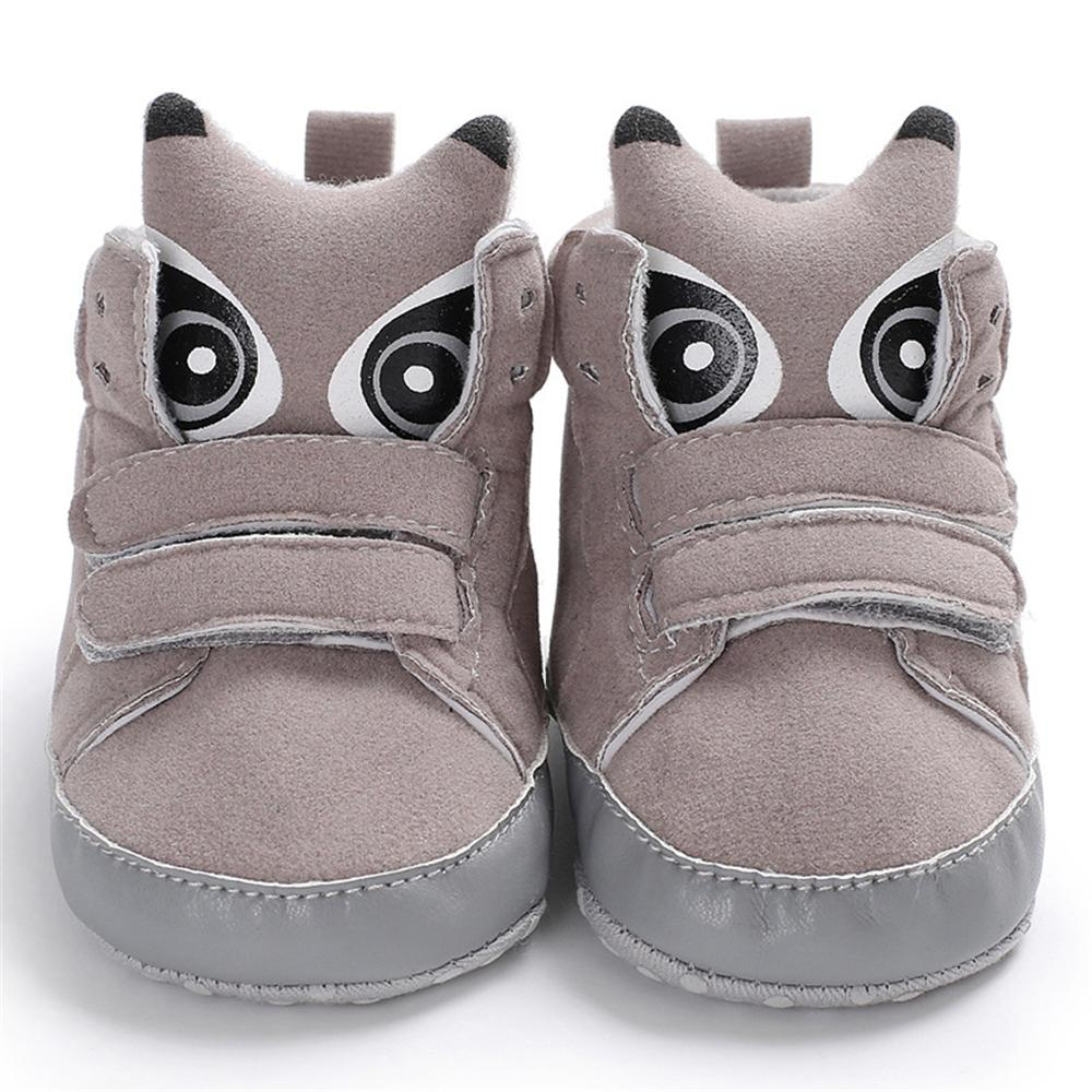 Baby Unisex Solid Magic Tape Cartoon Sneakers Wholesale Shoes Kids - PrettyKid