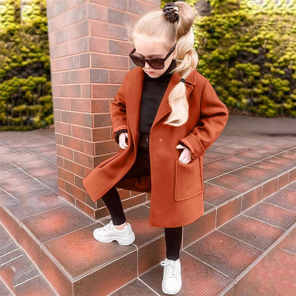 Unisex Solid Pockets Long Sleeve Coat Wholesale Kids Boutique Clothing