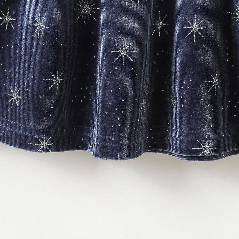 Baby Girls Star Crystal Button Long Sleeve Dress Baby Wholesales
