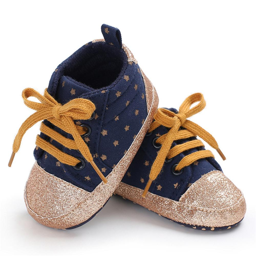 Baby Unisex Star Lace-up Sneakers Wholesale - PrettyKid