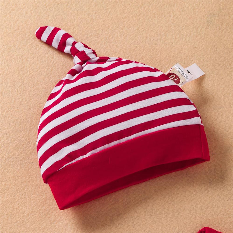 Baby Boys Stripe Letter Romper & Pants & Hat Baby Boutique Wholesale