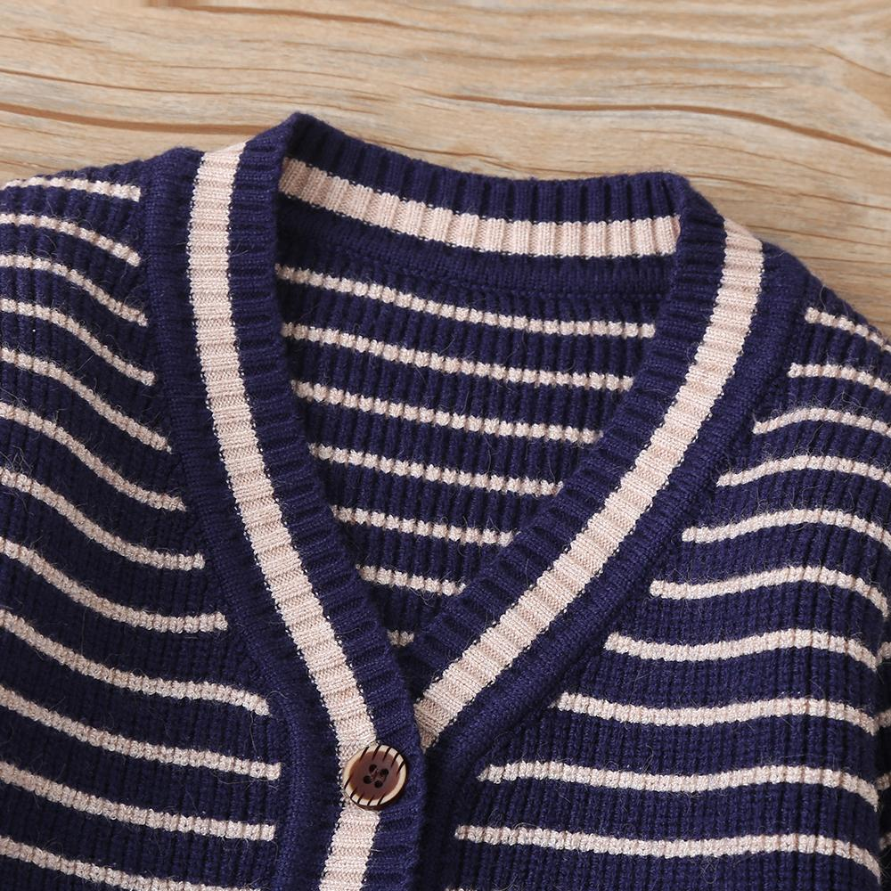 4PCS Baby Boys Striped Long Sleeve Cardigan Sweaters Cheap Bulk Baby Clothes