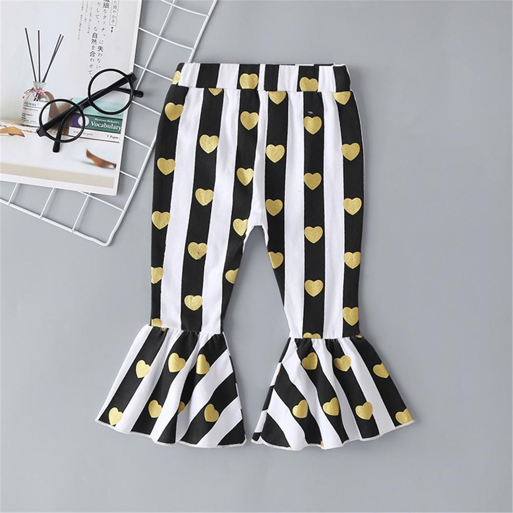 Baby Girls Striped Heart Flare Trousers