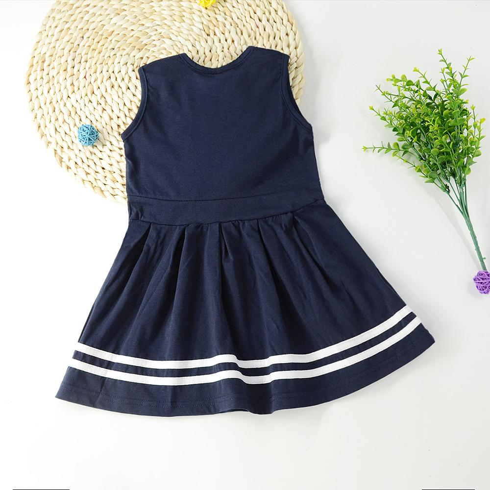 Girls Summer Sleeveless Cartoon Dress Wholesale Girl Boutique Clothing